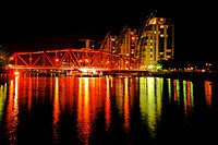 SALFORD QUAYS SWING BRIDGE NIGHT MSP0000588